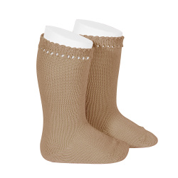 Perle knee high socks CAMEL