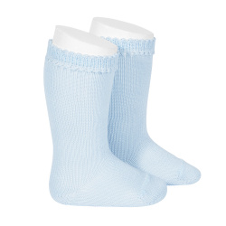 Perle knee high socks BABY BLUE