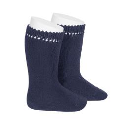 Chaussettes hautes coton BLEU MARINE