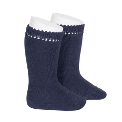 Perle knee high socks NAVY BLUE