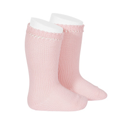 Perle knee high socks PINK