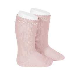 Perle knee high socks PALE PINK