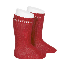 Perle knee high socks RED