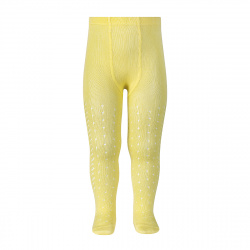 Perle openwork tights lateral spike LIMONCELLO