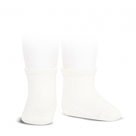 Calcetines cortos perlé con calado lateral NATA