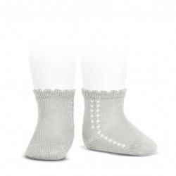 Calcetines cortos perlé con calado lateral PERLADO
