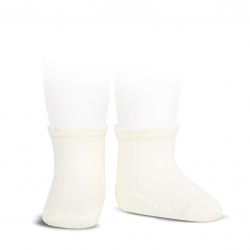 Calcetines cortos perlé con calado lateral CAVA