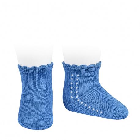 Calcetines cortos perlé con calado lateral MAYA