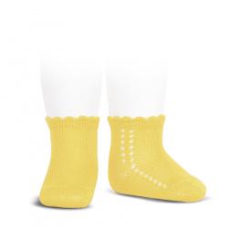 Calcetines cortos perlé con calado lateral LIMONCELLO