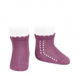 Calcetines cortos perlé con calado lateral CASSIS