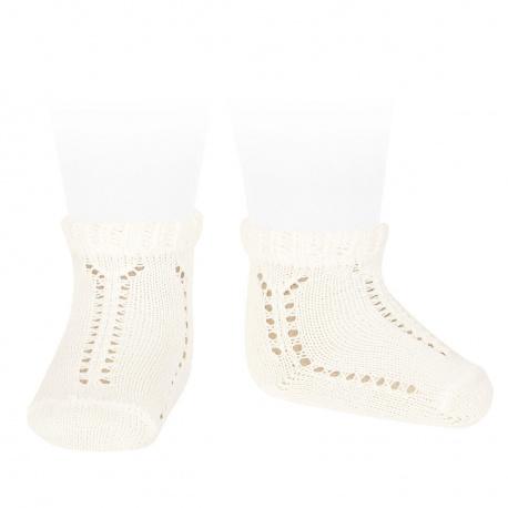 Calcetines cortos calados perlé puño fantasía NATA