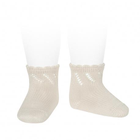 Calcetines cortos perlé calados LINO
