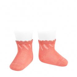 Calcetines cortos perlé calados PEONIA