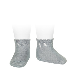Calcetines cortos perlé calados VERDE SECO