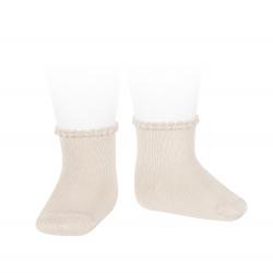 Calcetines cortos puño labrado primavera LINO