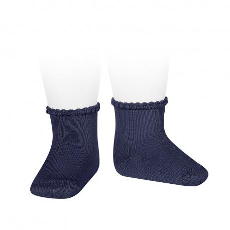 Calcetines cortos puño labrado MARINO