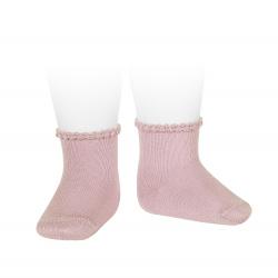 Calcetines cortos puño labrado primavera ROSA PALO