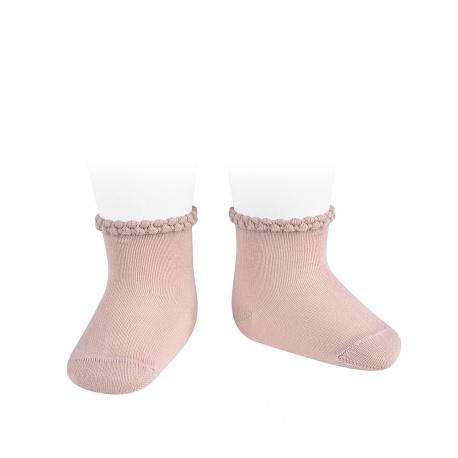 Calcetines cortos puño labrado primavera ROSA EMPOLVADO