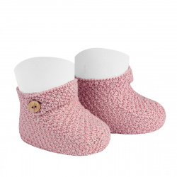 Sand stitch booties PALE PINK