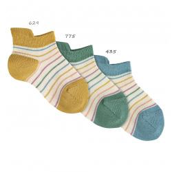Calcetines invisibles rayas finas de colores