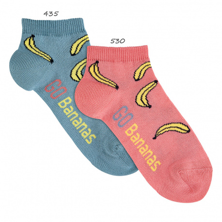 Chaussettes invisibles fantaisie banana
