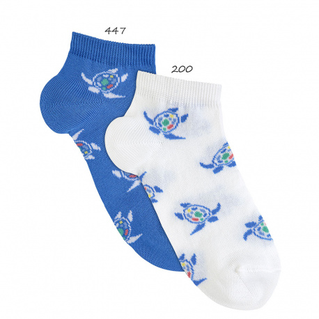 Chaussettes invisibles tortues