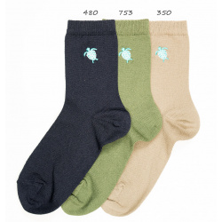 Chaussettes seaqual brodée tortue