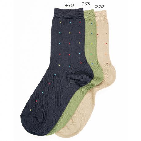 Calcetines fantasia micro topos de colores