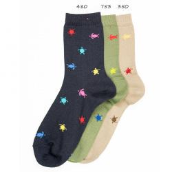 Seaqual colourful turtle short socks