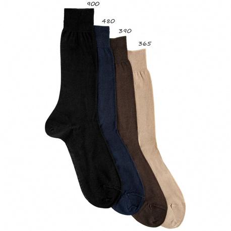 Chaussettes courtes lises fil ecose homme
