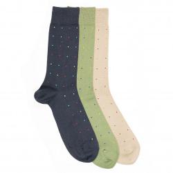 Calcetines hombre fantasia micro topos de colores