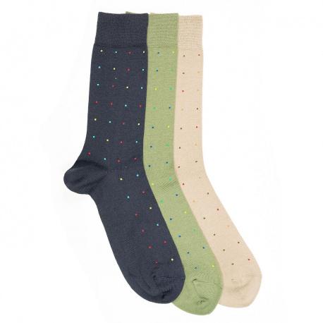 Men seaqual colourful dots short socks