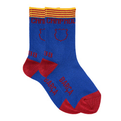 Short basic camp nou socks with stripes