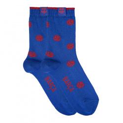 Chaussettes courtes barça avec ballons