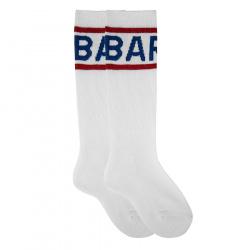 Kids gym knee high socks with barça letters