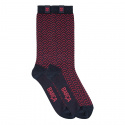 Calcetines cortos linea business jacquard bicolor