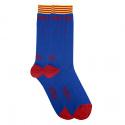 Men camp nou letters short socks with stripes