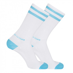 Chaussettes homme double rayures sport TURQUOISE