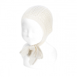 Openwork bonnet CREAM