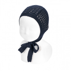 Openwork bonnet NAVY BLUE