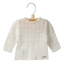 Shell openwork sweater CREAM