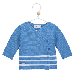 Breton stripe crossed sweater MAYAN