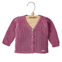girls openwork cardigan CASSIS
