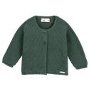 Garter stitch cardigan PINE