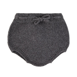 Garter stitch culotte with cord ANTHRACITE