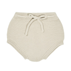 Garter stitch culotte with cord LINEN