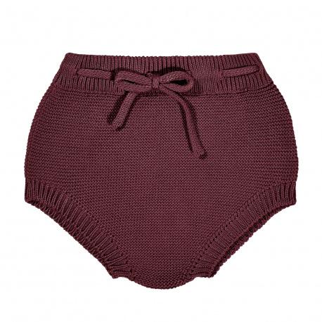 Culottes point mousse avec corde GRENAT