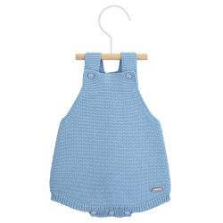 garter stitch baby romper CLOUD