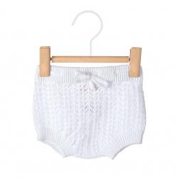 Openwork culotte with cord WHITE