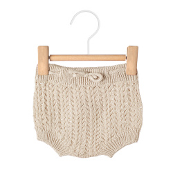 Openwork culotte with cord LINEN
